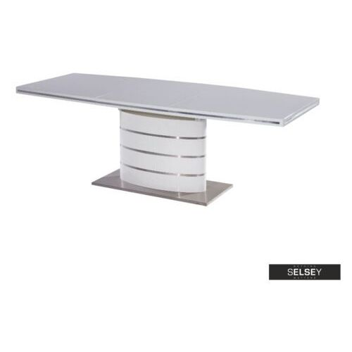 SELSEY Stół rozkładany Vaster 160-220x90 cm biały (5903025237831)