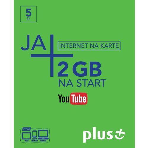 Plus ja+ 5zł / 5gb - internet na kartę - produkt w magazynie - szybka wysyłka!