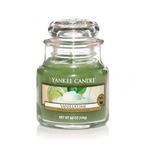 Yankee candle vanilla lime świeca zapachowa słoik mały 104g