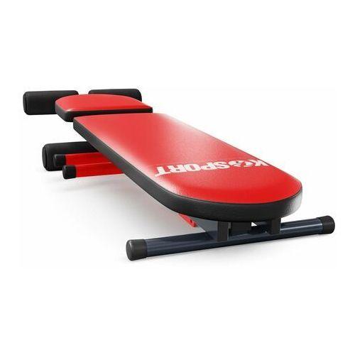 Ławka do ćwiczeń brzuszków skośna regulowana składana kssl024 marki K-sport