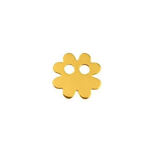 Blaszka celebrytka koniczynka, złoto próba 585 marki 925.pl