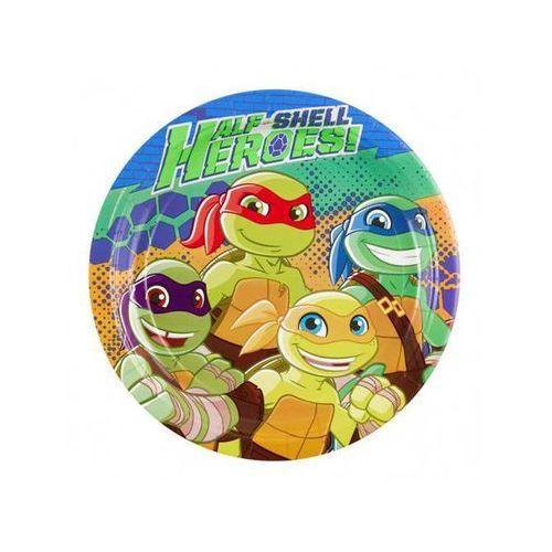 Talerzyki urodzinowe wojownicze żółwie ninja - 23 cm - 8 szt. marki Amscan