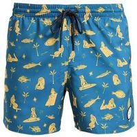 O'Neill THIRST FOR SURF Szorty kąpielowe blue/yelloworange (8719403210245)