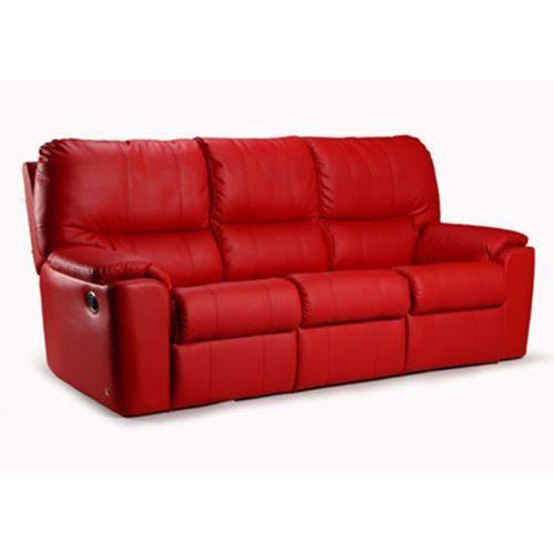 Sofa olaf 3os., skóra, eko-skóra, tkanina, z opcją spania marki Estelia