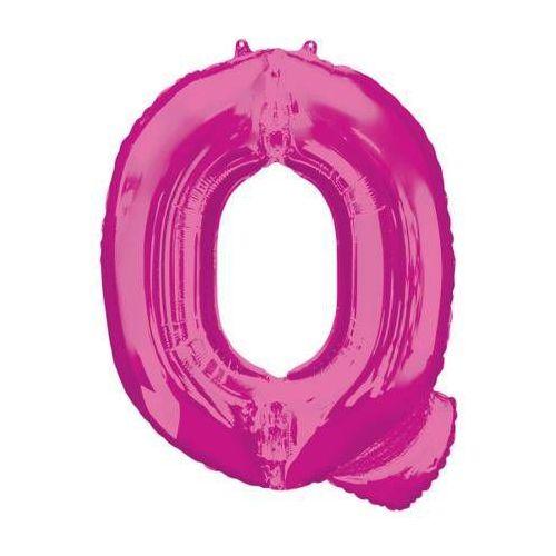 Balon foliowy różowa litera Q - 60 x 81 cm - 1 szt. (0026635354349)