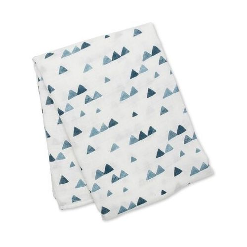 Lulujo Kocyk Bambusowy Navy Triangles, LJ145