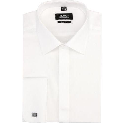 Recman Koszula versone 2734 na spinki slim fit biały