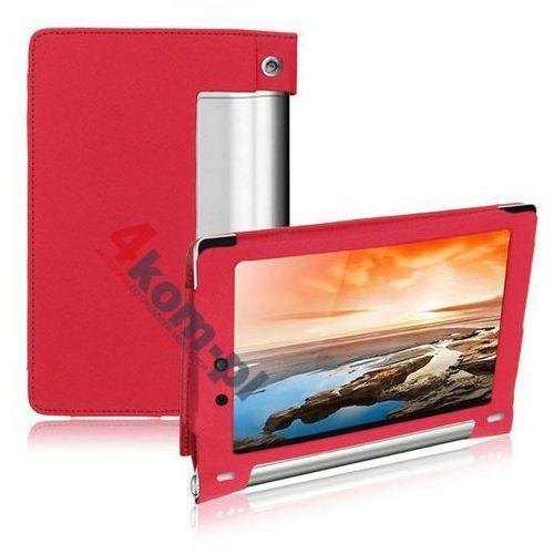 3w1 Etui na magnes do Lenovo Yoga 10.1' 1050F 1050L + Folia + ściereczka - Różowy