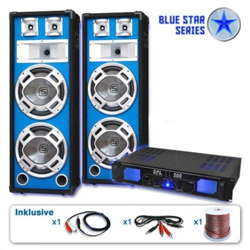 "Electronic-star zestaw pa z serii blue star ""bassveteran"" 1600 wattów"
