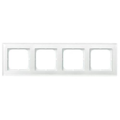 Ramka 4-krotna białe szkło gr 6mm R-4RG/31 SONATA (5907577451011)