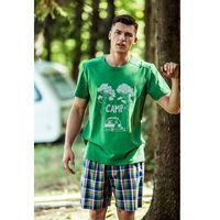 Piżama Key MNS 799 A8 2XL, zielony-kratka, Key, 5904765575375