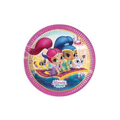 Talerzyki urodzinowe Shimmer i Shine - 23 cm - 8 szt. (5201184899434)
