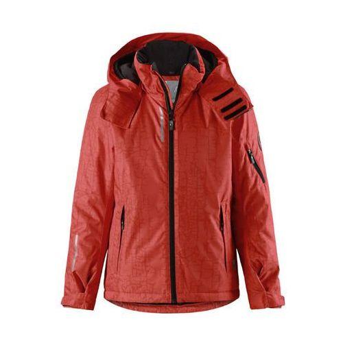 Kurtka narciarska  reimatec® detour płomienna czerwień (flame red) z wzorem marki Reima