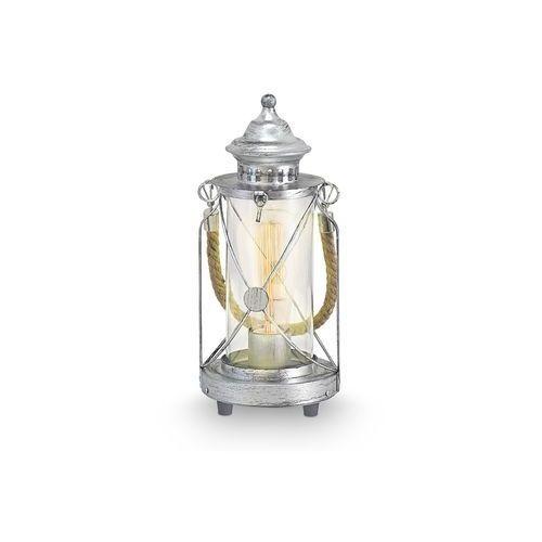 Eglo vintage lampa stołowa srebrny, ciemnobrązowy, 1-punktowy marki Oświetlenie eglo