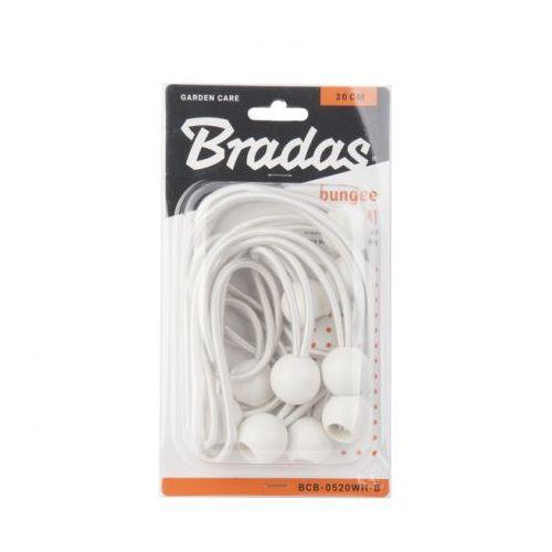 10szt. zestaw gum z kulką 10x20cm biały Bradas 5372