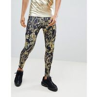 Jaded Meggings In Baroque Chain Print - Black