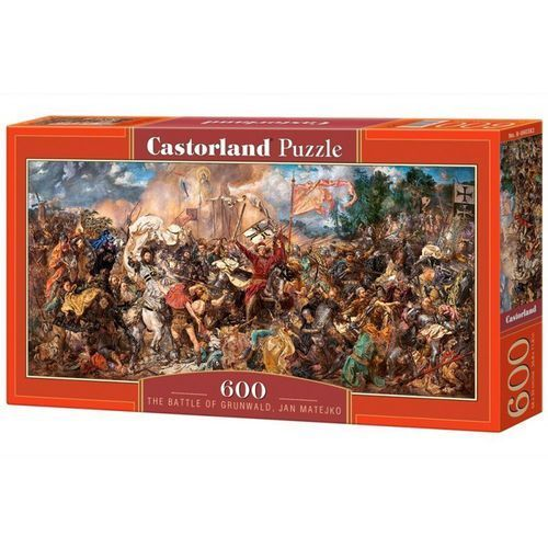 Puzzle 600 the battle of grunwald jan matejko - marki Castorland