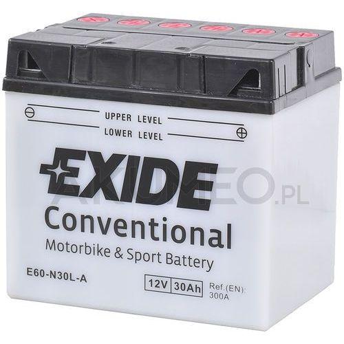 Akumulator conventional e60-n30l-a 12v 30ah 300a prawy+ ol marki Exide