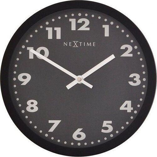 Nextime Zegar ścienny mercure czarna tarcza 25 cm