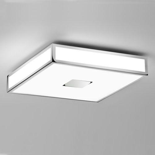 Astro Mashiko 400 square ceiling light chrome