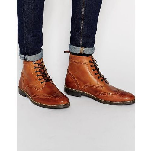 brogue boots - brown marki Red tape