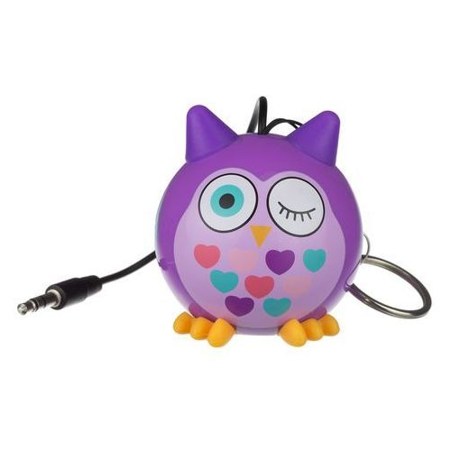Kitsound Głośnik przewodowy minibuddy owl purple