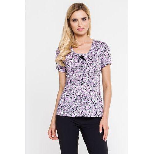 Koszula z krótkim rękawem w drobne kwiatki - Duet Woman