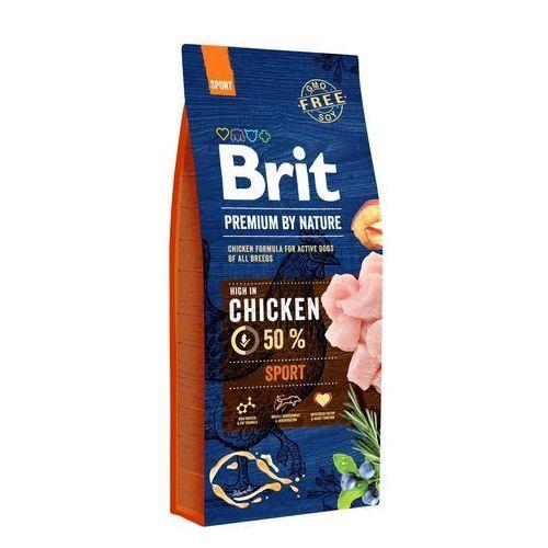 BRIT dog Premium By Nature SPORT - 15kg + GRATIS 1x BRIT SALÁM TURKEY PEA, 1003550
