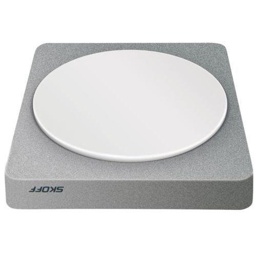 SKOFF Oprawa LED meblowa QUADRATO typ OML9-1 (G) aluminium WW (ciepły biały)