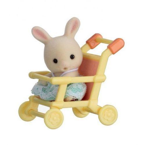 Sylvanian families przenośny zestaw dla dziecka (królik w wózku spacerowym) marki Epoch