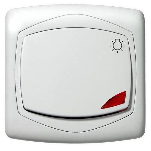 Przycisk zwierny światło z podświetleniem ton color system biały marki Ospel