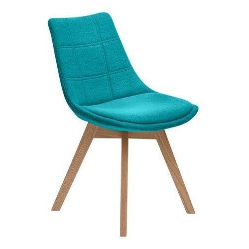 Krzesło Falster tapicerowane turkusowy, MO-0058