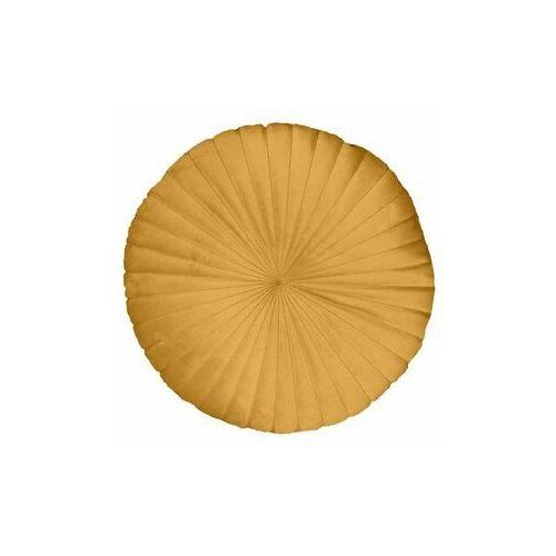 Inspire Poduszka okrągła welurowa tony żółta śr. 40 cm (3276007078312)