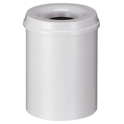 Bezpieczny kosz na papier, poj. 15 l, wys. 360 mm, jasnoszary. korpus z blachy s marki Vepa bins
