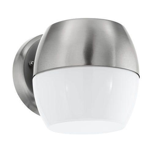Eglo Kinkiet hilburn 1 94865 lampa ścienna oprawa zewnętrzna 1x60w e27 ip44 srebrny/orzech