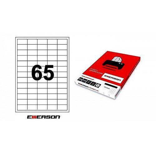 Etykiety samoprzylepne Emerson 38x21,2mm białe nr 019, 100ark. A4