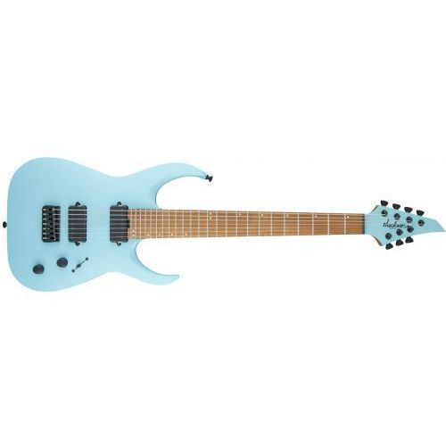usa signature misha mansoor juggernaut ht7, caramelized flame maple fingerboard, satin daphne blue gitara elektryczna marki Jackson