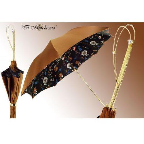 Parasol s508, złoty, kwiaty, jedwab marki Il marchesato