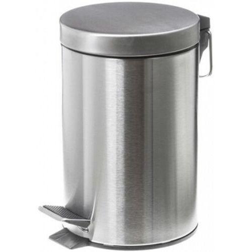 Kosz na śmieci łazienkowy 5 litrów stal nierdzewna satyna Metalowy kosz na śmieci 5 l, Faneco WBP5JS, kolor stalowy