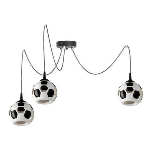 LAMPA wisząca LAMP 651/Z3 dziecięca OPRAWA zwis pająk spider piłka nożna kule balls białe czarne (5902622118000)