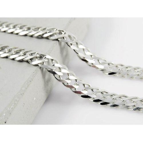 Srebrny (925) łańcuszek ROMBO 60 cm, kolor szary