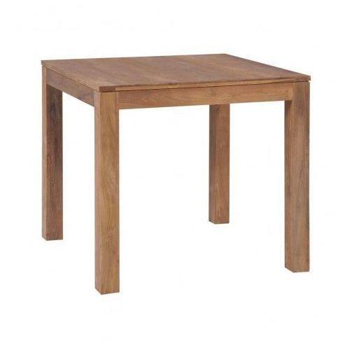 Stół z drewna tekowego margos – brązowy marki Elior