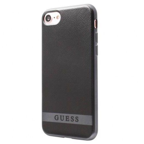Guess Classic Soft Case - Etui iPhone 7 (czarny/srebrny), GUHCP7STRBAS