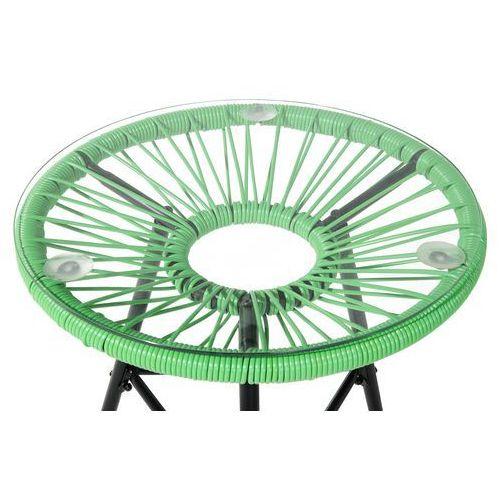 Meble rattanowe stół z 2 krzesłami zielone acapulco marki Beliani