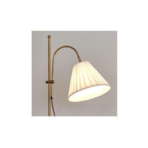 Antyczna lampa stojąca leilan z abażurem marki Lampenwelt