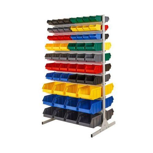 Regał warsztatowy/garażowy z pojemnikami 120 szt. - stojący, dwustronny marki Array