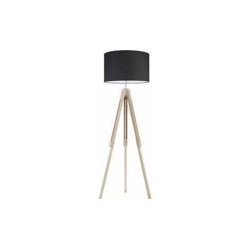 TK Lighting Trewir Wood 5167 Lampa podłogowa stojąca 1x60W E27 czarny/sosna (5901780551674)