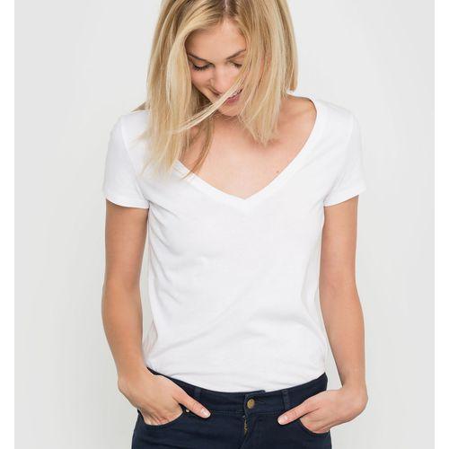 T-shirt z dekoltem w kształcie v, z bawełny organicznej, R essentiel