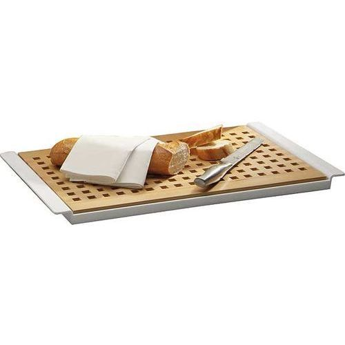 Deska prostokątna drewniana do krojenia pieczywa | jasnobrązowa | 520x340x20mm