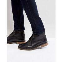Silver Street Milled Boots In Black Leather - Black, kolor czarny
